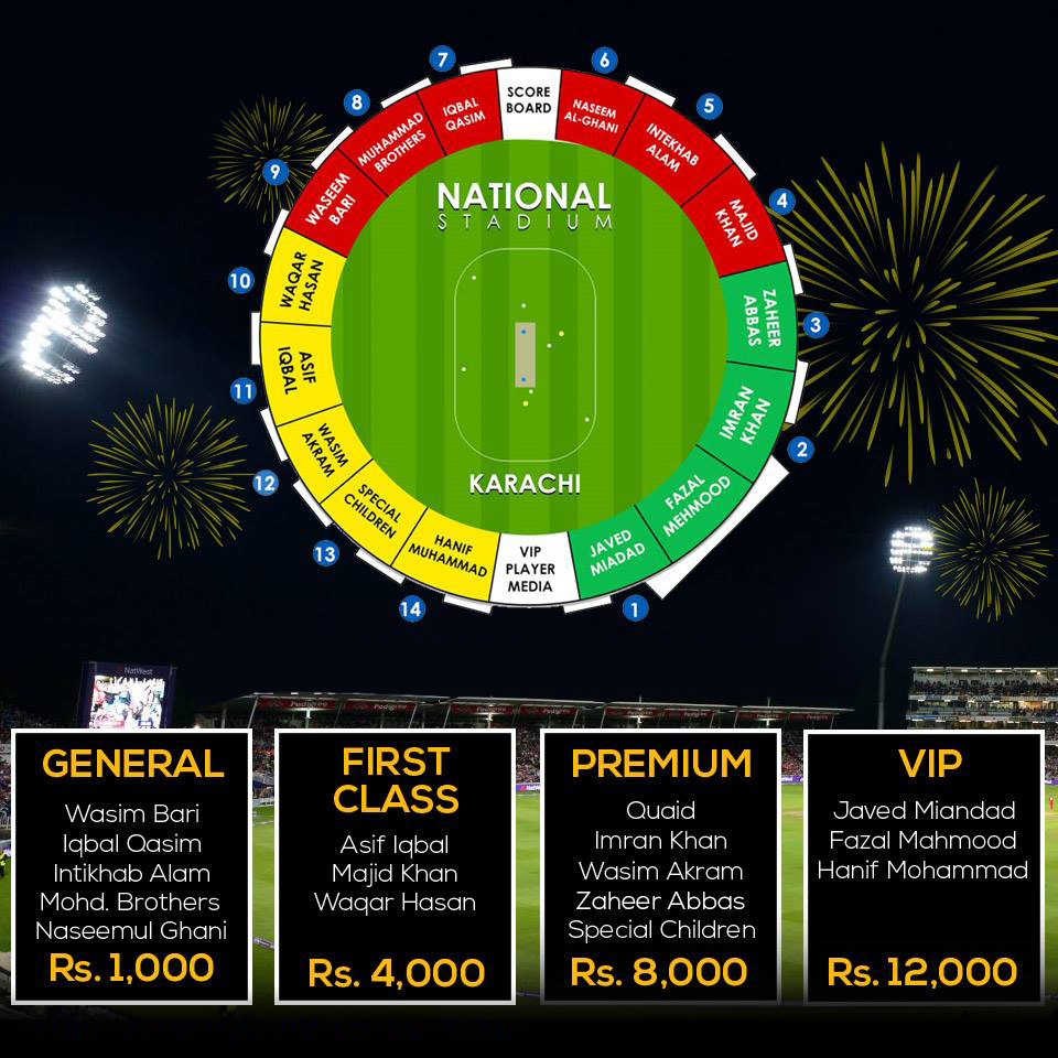 PSL final Tickets Prices